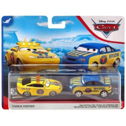 Mattel Disney/Pixar Cars Αυτοκινητάκια Σετ Των 2 Checker And Race Official Tom DXV99 / GCK12 887961728880