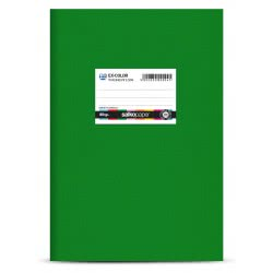 salko paper Ex-Color Plastic Notebook 50 Sheets - Green 2094 5202832020941