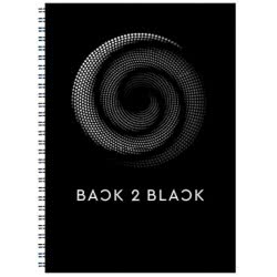 A&G PAPER Back To Black Spiral Notebook A4 21X29.7 Cm 2 Subject - 5 Designs 32090 5203296320905