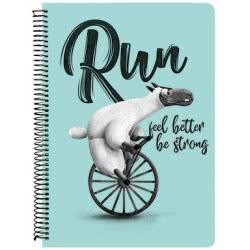A&G PAPER Run Feel Better Be Strong Τετράδιο Σπιράλ A4 21Χ29 Εκ. 2 Θεμάτων - 5 Σχέδια 32075 5203296320752