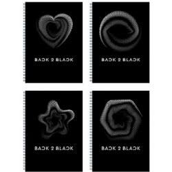 A&G PAPER Back To Black Τετράδιο Σπιράλ A4 21X29.7 Εκ. 1 Θεμάτων - 5 Σχέδια 32089 5203296320899