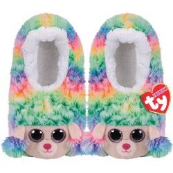 ty Beanie Boos Fashion Slipper Socks Rainbow Poodle - Medium 1607-95399 / 1-3 008421953356