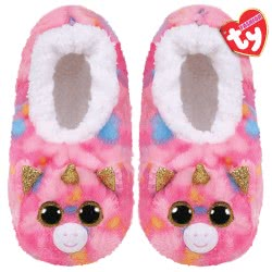 ty Beanie Boos Fashion Slipper Socks Fantasia Unicorn - Medium 1607-95399 / 2-3 008421953318