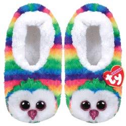 ty Beanie Boos Fashion Slipper Socks Owen Owl - Medium 1607-95399 / 5-3 008421953332