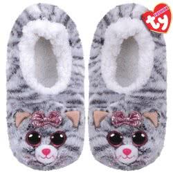 ty Beanie Boos Fashion Slipper Socks Kiki Cat - Large 1607-95399 / 6-2 008421953608