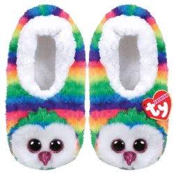 ty Beanie Boos Fashion Slipper Socks Owen Owl - Small 1607-95399 / 5-1 008421953035
