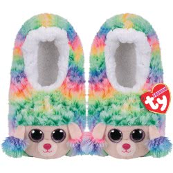 ty Beanie Boos Fashion Slipper Socks Rainbow Poodle - Small 1607-95399 / 1-1 008421953059