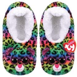 Beanie Boos Fashion Slipper Socks Dotty Leopard - Large 1607-95399 / 4-2 008421953646