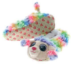 ty Beanie Boos Fashion Παντόφλες Σοσόνια Rainbow Poodle - Large 1607-95399 / 1-2 008421953653