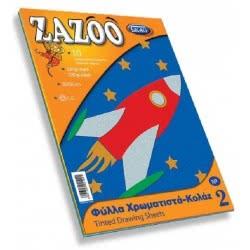 SKAG Zazoo Φύλλα Κολάζ (Κανσόν) 25X35 10 Χρωμάτων Νο2 - 1Τμχ 281249 5201303281249