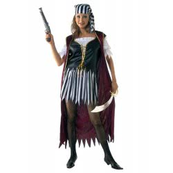 CLOWN Carnaval Costume Pirate Woman Size Os 80776 5203359807763