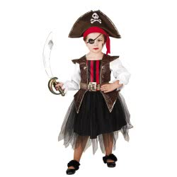 CLOWN Carnaval Costume Little Girl Pirate Size 04 102104 5203359000751