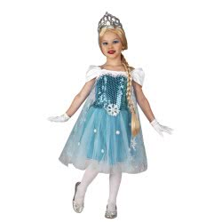 CLOWN Carnaval Costume Ice Queen Size 04 101204 5203359000355