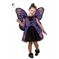 CLOWN Carnaval Costume Purple Butterfly Size 06 102206 5203359000805