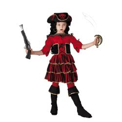 CLOWN Carnaval Costume Red Corsair Size 08 32308 5203359323089