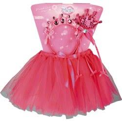 CLOWN Σετ Παιδικό Πριγκίπισσα Φούστα-Στέκα Και Ραβδάκι 71961 5203359719615