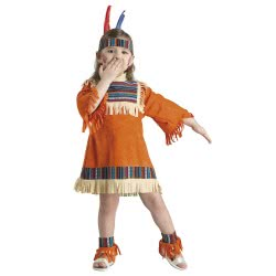 CLOWN Carnaval Costume Baby Indian Girl (Bebe) Size 12 03812 5203359038129