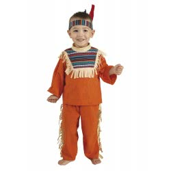 CLOWN Carnaval Costume Baby Indian Boy (Bebe) Size 12 04012 5203359040122