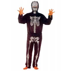 CLOWN Carnaval Costume Skeleton Size  L 80307 5203359803079