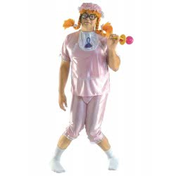 CLOWN Carnaval Costume Babe Pink Size Os 80338 5203359803383
