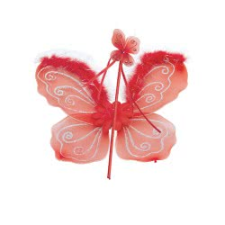 CLOWN Kids Set Butterfly With Stick, Wings And Cue 70887 5203359708879