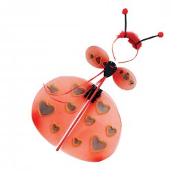 CLOWN Kids Set Lady Bug With Stick, Cue And Wings 70888 5203359708886