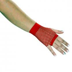 CLOWN Κόκκινα Γάντια Διχτυωτά, Κοντά 10 Εκ. 71362 5203359713620