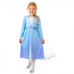 Rubies Disney Frozen 2 Elsa Travel Dress 7 - 8 Years 300468L 883028387793
