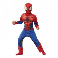 Rubies Costume Deluxe Spider-Man (7-8 Years) 641399L 883028322183