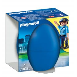 Playmobil Easter Eggs Αστυνομικός Με Σκύλο 70085 4008789700858