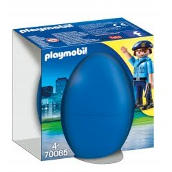 Playmobil Easter Eggs Police Officer With Dog 70085 4008789700858