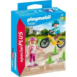 Playmobil Special Plus Children With Skates And Bike 70061 4008789700612