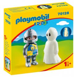 Playmobil 1.2.3 Knight With Ghost 70128 4008789701282