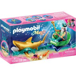 Playmobil Magic  King Of The Sea With Shark Carriage 70097 4008789700971