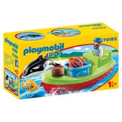 Playmobil 1.2.3 Αλιευτικό Σκάφος 70183 4008789701831