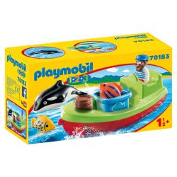 Playmobil 1.2.3 Fisherman With Boat 70183 4008789701831