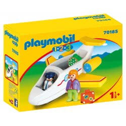 Playmobil 1.2.3 Plane With Passenger 70185 4008789701855