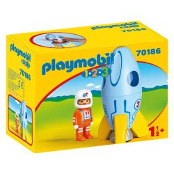 Playmobil 1.2.3 Αστροναύτης Με Πύραυλο 70186 4008789701862