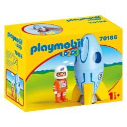 Playmobil 1.2.3 Astronaut With Rocket 70186 4008789701862