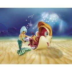 Playmobil Magic Mermaid With Sea Snail Gondola Building Set 70 NEW