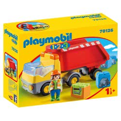 Playmobil Ανατρεπόμενο Φορτηγό Με Εργάτη 70126 4008789701268