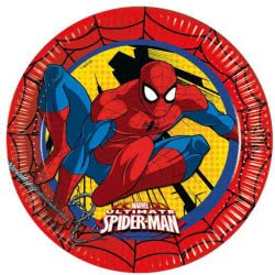 PROCOS Marvel Ultimate Spiderman Paper Plates Large 23 Cm - 6 Pieces 091024 5201184910245