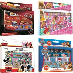 Group Operation Disney 65 pieces stickers in box (4 designs) F01869 8719558018697