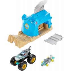Mattel Hot Wheels Monster Trucks Shark Wreak Καρχαρίας Σετ Παιχνιδιού Εκτοξευτές GKY01 / GKY03 887961833638