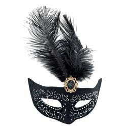 Fun Fashion Μάσκα Ματιών Με Στρας Και Φτερό 80741 5204745807411