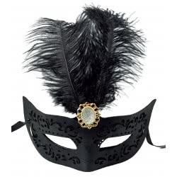 Fun Fashion Μάσκα Με Φτερό Και Αγκράφα - Μαύρη 80902 5204745809026