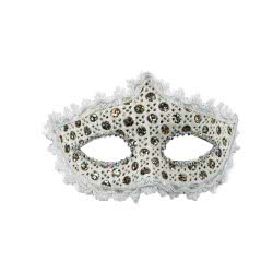 Fun Fashion Μάσκα Με Δαντέλα Λευκή 80908 5204745809088