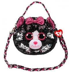 ty Fashion Sequin Χνουδωτό Τσαντάκι Ώμου Γάτα Γκρι Κικί 1607-95120 008421951208