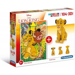 Clementoni Lion King Παζλ 3D Model 104 Τεμάχια Ο Βασιλιάς Των Λιονταριών 1211-20158 8005125201587