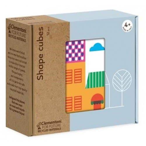 Clementoni Shapes Cubes Puzzle Eco Παζλ Κύβοι Σπίτια 12 Τεμαχίων 1265-16227 8005125162277